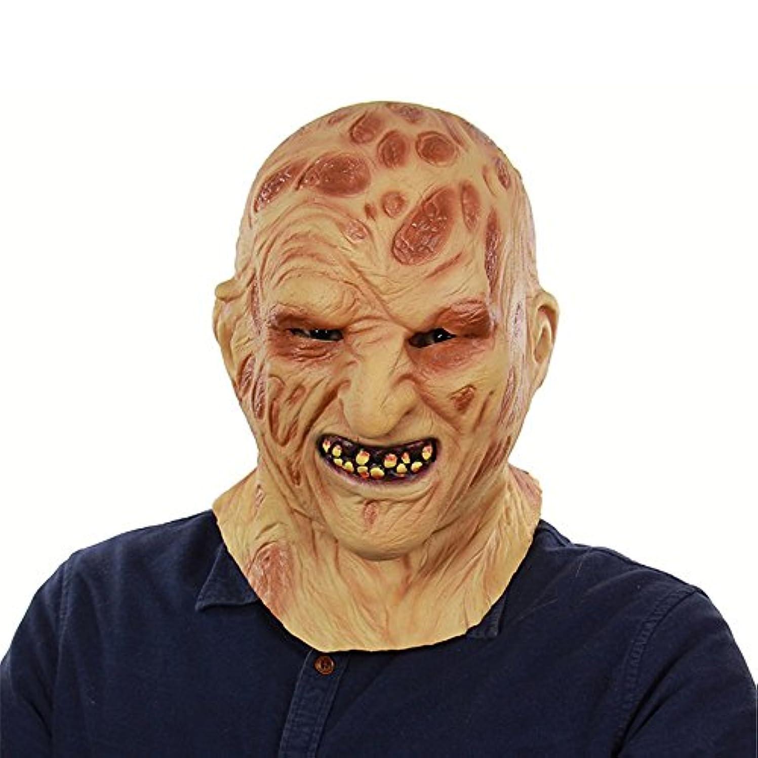 退屈多年生債務者ハロウィンゴーストフェスティバル対外貿易ラテックス火災燃える顔腐肉ヘッドカバーホラー腐った顔ゾンビゾンビフェイスマスク