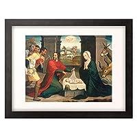 Correa de Vivar, Juan,1539-1566 「Adoration of the Shepherds. 1550/60」 額装アート作品