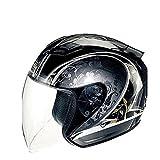 TANKED536ジェットヘルメット 半帽 ハーフ パイロット バイクヘルメット bike helmet バイク用品 内装洗濯可能 PSCマーク付き XL「並行輸入品]