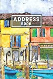 Address Book: For Organize and Record a Contact, Name, Birthday, Email, Mobile, Social Media - Watercolor Architecture