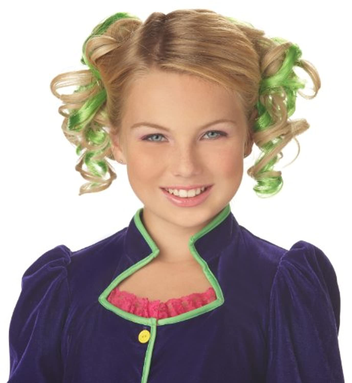 Green Curly Hair Combs グリーンカーリーヘアコームズ?ハロウィン?サイズ: