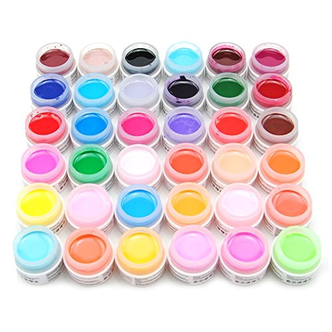 補充姉妹降ろすユニークモール(UniqueMall)ジェルネイルのセット 36色 純粋ネイルネイルカラーUVジェルレジン ネイルアート ネイルサロン 色々カラーネイルデコ人気セット