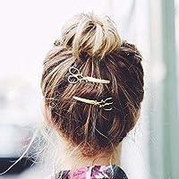 Pair of Goldtone Scissor Hair Clip/Hairpins