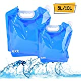 Collapsible Water Container, Ariel-GXR 5L + 10L Portable Foldable Water Tank BPA Free Plastic Water Carrier for Hiking Camping Picnic Travel BBQ