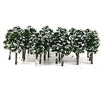 【ノーブランド品】樹木 木 モデルツリー 鉄道模型  風景 1/100  冠雪  積雪 冬の木 公園の風景