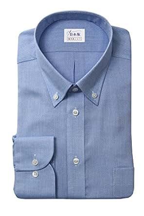 軽井沢シャツ メンズ 長袖ビジネスシャツ (形態安定シャツ) ボタンダウン ショートポイント形態安定 [A10KZB279] ゆったり型