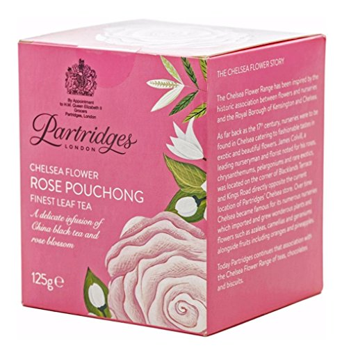 英国王室御用達 Partridges (パートリッジ) チェルシーフラワー ローズ プーション リーフ 125g Rose Pouchong [並行輸入品]