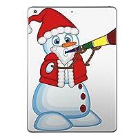 第6世代 iPad 9.7インチ 9.7inch iPad6 2018年モデル A1893 A1954 スキンシール apple アップル アイパッド タブレット tablet シール ステッカー ケース 保護シール 背面 人気 単品 おしゃれ おしゃれ クリスマス 雪だるま キャラクター 009932