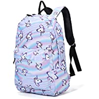 Casual School Backpacks Ladies Unicorn Backpacks School Daypacks Kids Backpack for 14 Inch Laptop College Backpack for Kids Boys Student Sky Blue