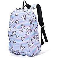 Casual School Backpacks Ladies Unicorn Backpacks School Daypacks Kids Backpack for 14 Inch Laptop College Backpack for Kids Boys Student Sky Blue