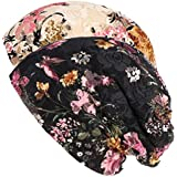 ヘッドスカーフ レディース ビーニーハット レディース 柔らかい 多用途 頭飾り 軽量 通気性 眠り、化学療法 、 キャンサーと脱毛症