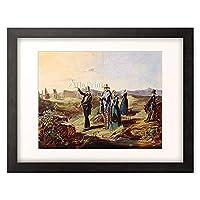 カール・シュピッツヴェーク 「ローマ郊外のイギリス人旅行者 English travellers in Campagna. About 1835」 額装アート作品
