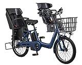 2018年モデル Panasonic(パナソニック) GYUTTO ANNYS(ギュット アニーズ) 3人乗り対応電動自転車 BE-ELA03A 純正フロントチャイルドシート付き (マットネイビー(L79))