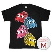 ナムコ パックマン ゴーストウェーブTee/Pac Man Ghosts Waves T-Shirt ゲームTシャツ M【並行輸入】