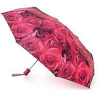 FULTON フルトン 折りたたみ傘 オープンクローズ 正規品証明タグ 英国王室御用達 かさ 折り畳み 女性用 ローズ イギリス Open Close 自動開閉 花柄 フラワー L346 AC(ローズレッド Rose Red)