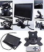 7インチモニター&バックカメラセット 7インチ TFT液晶モニター HD CCD バックカメラ ガイドライン 12V専用 ◇ISM-OMT74SET