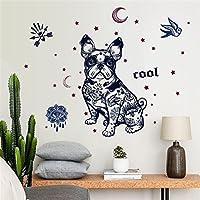 レンコス(Lemcos) ウォールステッカー  犬パターン COOL 飾り 壁紙  シール DIYウォールステッカー インテリア 窓・ドア・壁 はがせる 北欧風 おしゃれ 部屋飾り 居間・部屋・オフィス・バー・スーパーマーケット