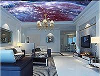 Yosot カスタム・ユニバースの壁紙、宇宙ホテル KTV 壁紙の 3 つ星ベッドルームの天井の壁画-350cmx245cm