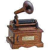 オルゴール ミニアンティーク エジソン蓄音機 ムーンリバー
