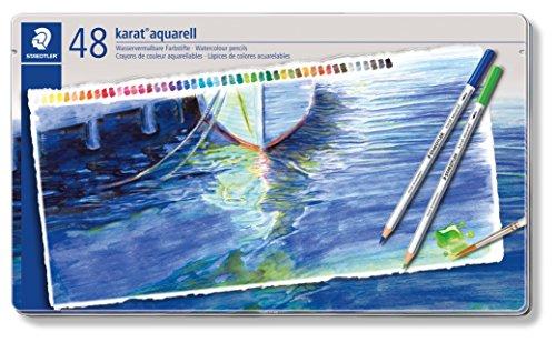 ステッドラー カラトアクェレル水彩色鉛筆 48色セット