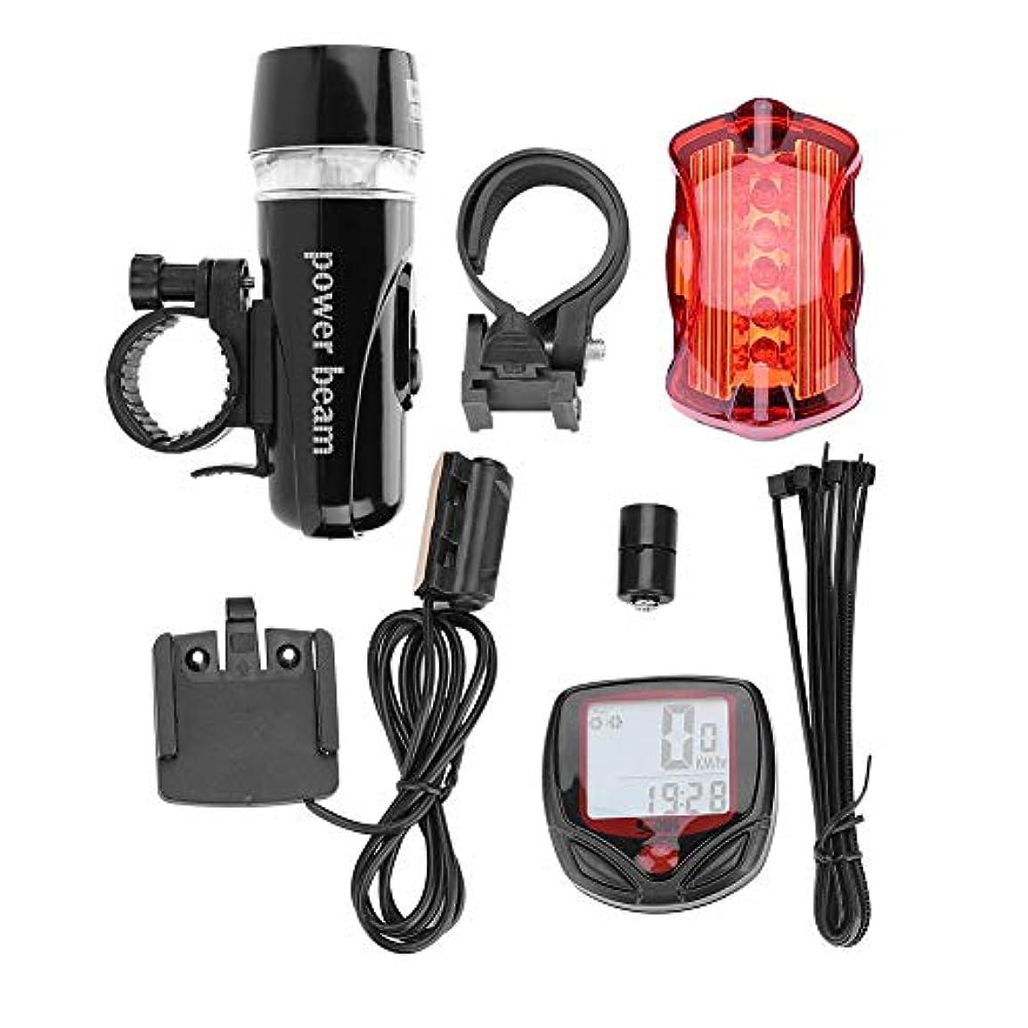 自転車ライトライト バイクテールライト 自転車フロントリアライトセット 高輝度 防水 多用途 防振 懐中電灯 防災対策