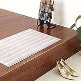屋内用 玄関マット キッチンマット 滑り止め付き 洗える マット シャギーラグ 〔60×90cm〕 ラベンダー