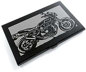 ブラックアルマイト「カワサキ(KAWASAKI) Z750FX 」切り絵デザインのカードケース[BC-017]