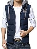 (ネルロッソ) NERLosso ダウンベスト メンズ ジップ ボタン ベスト チョッキ 中綿 メンズベスト 軽量 大きいサイズ ジャケット M ブルー605 cmh24429