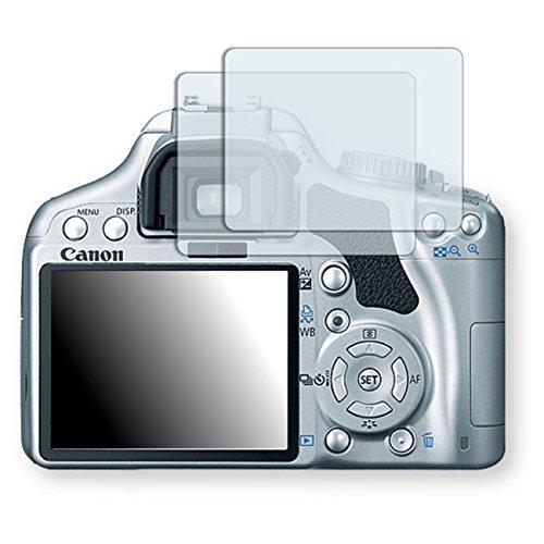 2x Canon EOS Kiss X2対応クリア画面保護フィルム (透明な画面保護フィルム、気泡が入ることなく貼れる、簡単にはがせる)