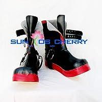 【サイズ選択可】コスプレ靴 ブーツ K-050 鋼の錬金術師 エドワード 女性23CM