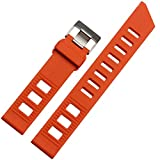 ドットタウン 腕時計ラバーベルト オメガ セイコー シチズン タイプ 20mm 2色 RSB098-BK 並行輸入品 オレンジ [並行輸入品]
