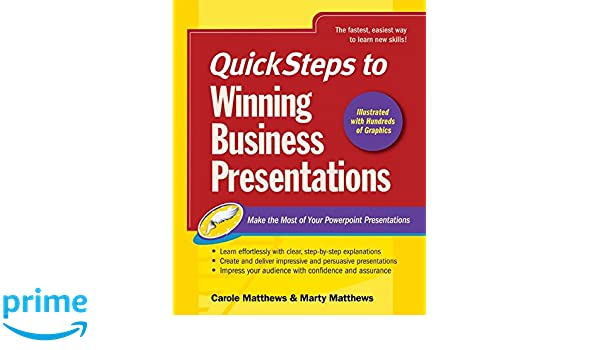 amazon quicksteps to winning business presentations make the most