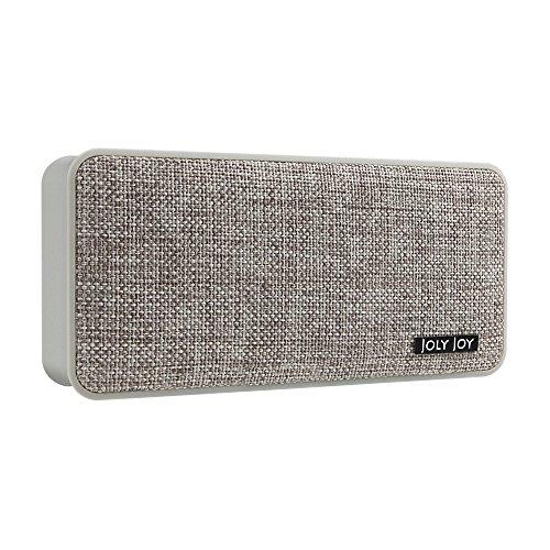 Joly Joy®布目Bluetooth4.1スピーカー ワイヤレス ポータブル音楽プレーヤー 高音質 A2DP対応 マイク内蔵 USB充電 ノイズキャンセリング技術 省エネ (ベージュ)