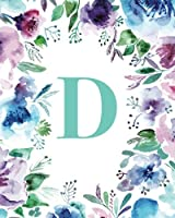 D Watercolor Floral Journal
