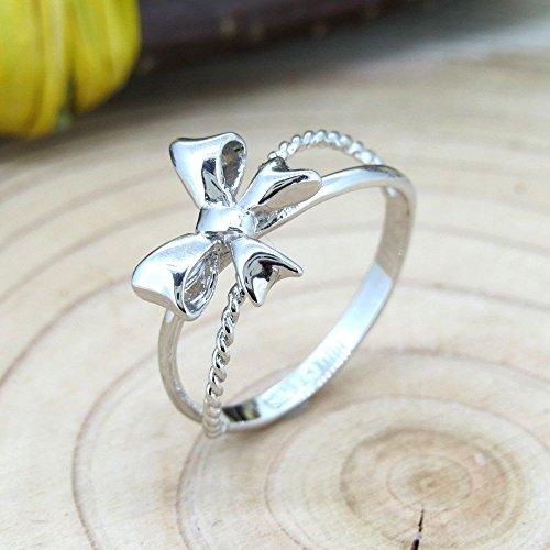 [해외]핑키 링 SILVER925 리본 반지 실버/Pinky ring SILVER 925 Ribbon ring silver