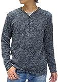 (ノータベネ) NOTA BENE Tシャツ メンズ ニットソー ブランド 長袖 ロンT 無地 ヘンリーネック (M, チャコール)