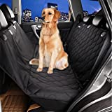 BIGWING ペット用ドライブ 超大 高品質 滑り止め 車後部座席 犬 ドッグ ペット用ドライブシート ドライブ用後部座席シートカバー ブラック