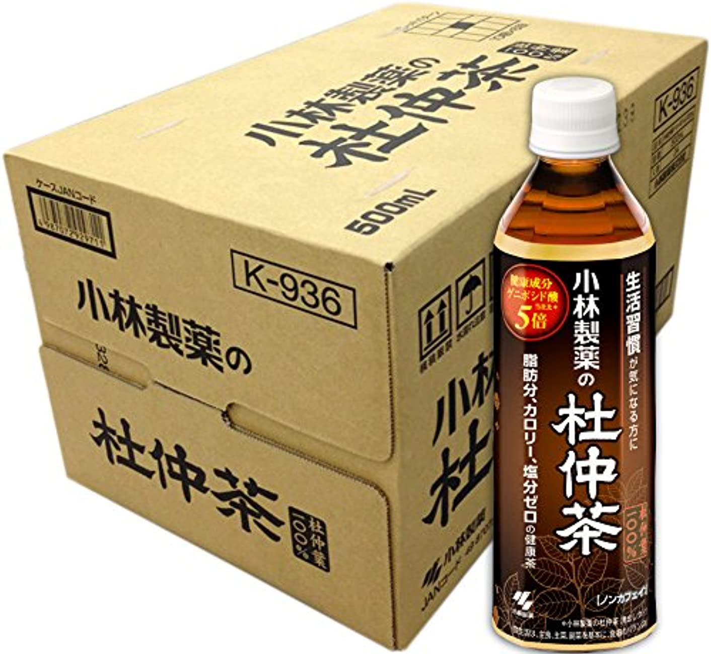 喜劇余暇ギャラリー【ケース販売】 小林製薬の杜仲茶 (ペットボトル) 500mL×24本