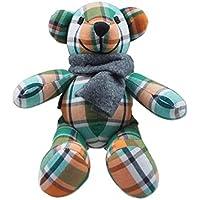 Lovely 10-inch green-orangeタイ手編みコットンLittle Bearソフトおもちゃ