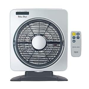 山善(YAMAZEN) 25cm首振りボックス扇風機(リモコン)タイマー付 メタリックシルバー YSBR-A253(MS)