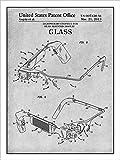 "Google Glassウェアラブルコンピュータ特許印刷アートポスター額なしグレー18"" x 24"""