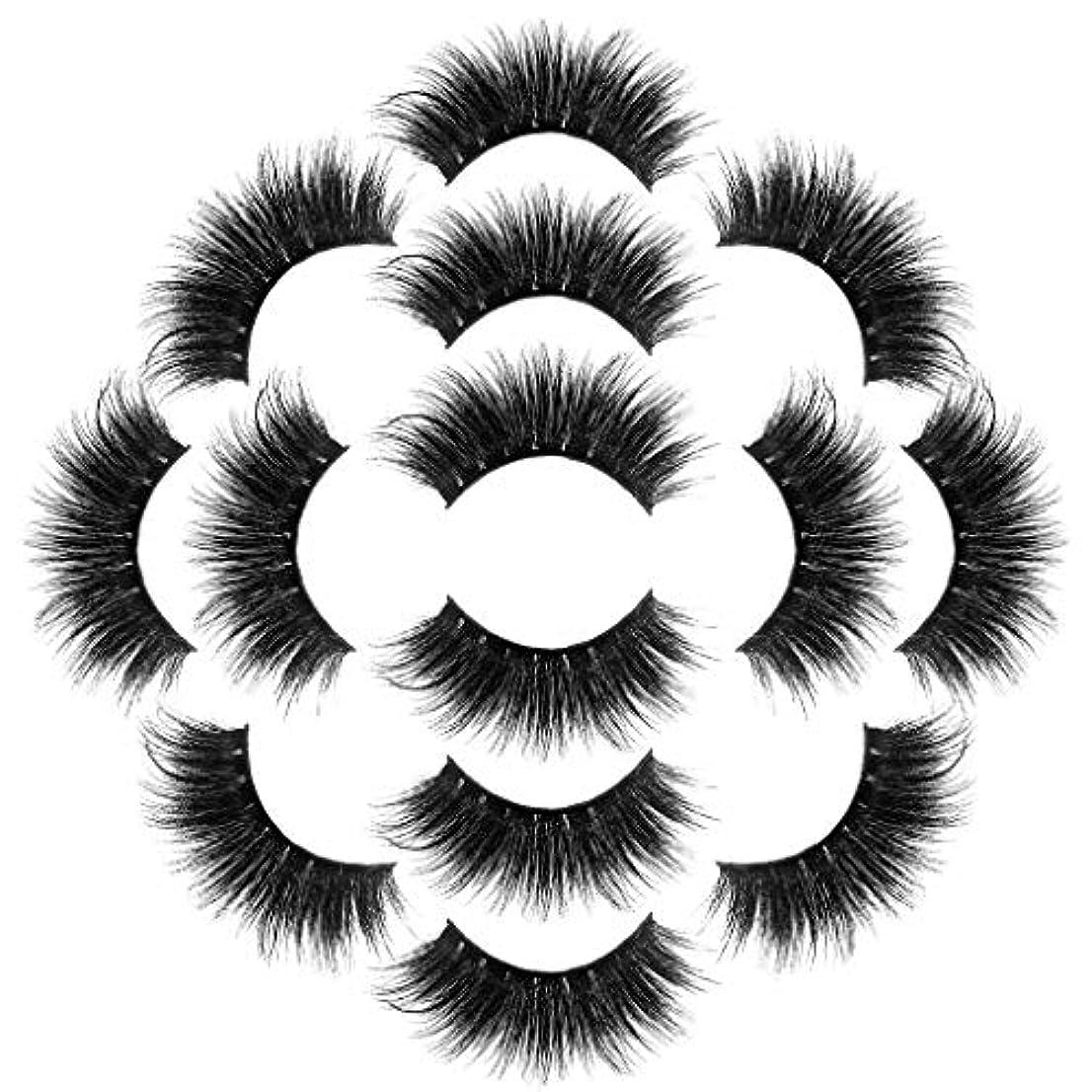 寓話ピンポイント累積ラグジュアリー7ペア8Dつけまつげふわふわストリップまつげロングナチュラルパーティーメイク
