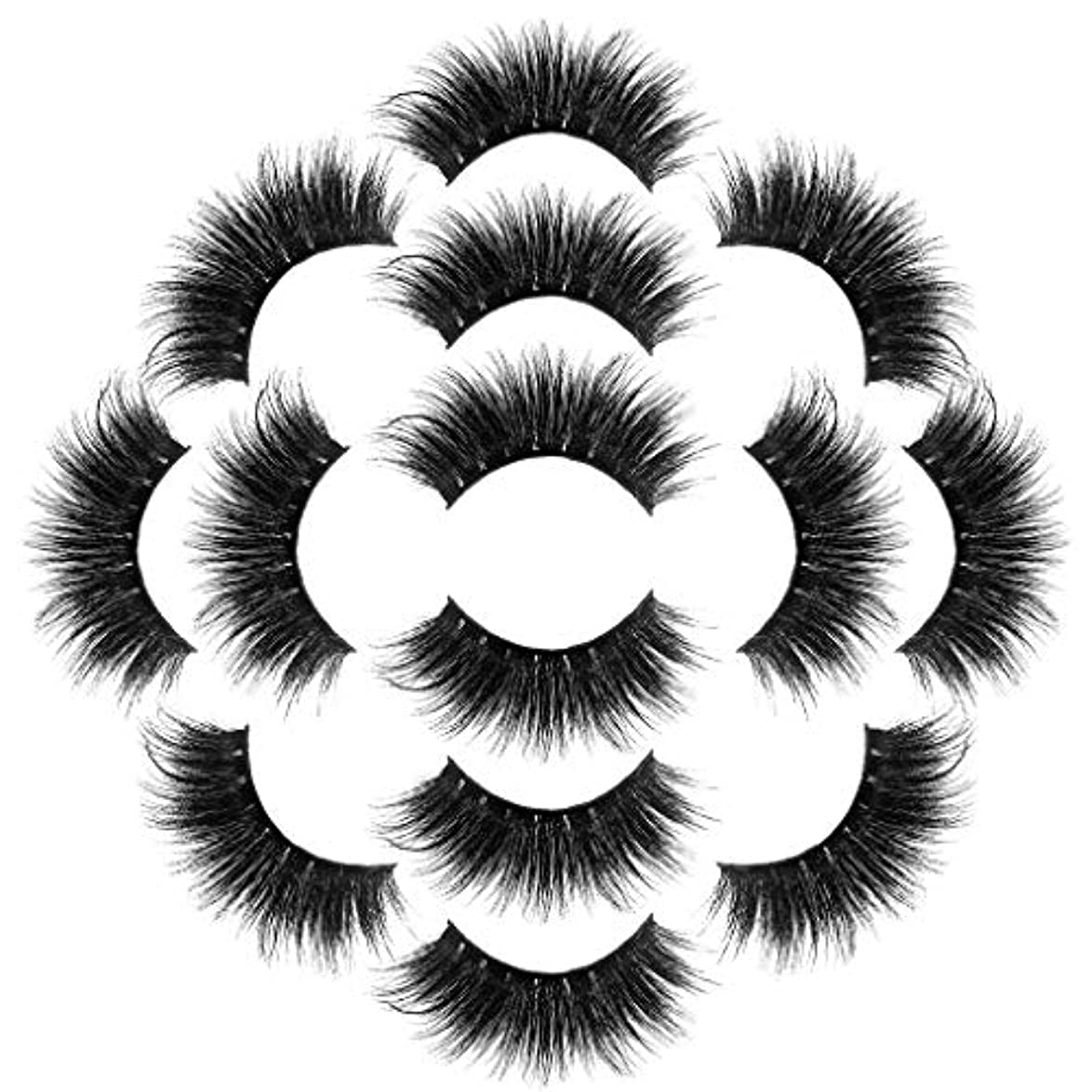変装松の木チーフラグジュアリー7ペア8Dつけまつげふわふわストリップまつげロングナチュラルパーティーメイク