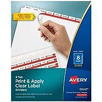 Index Maker Clear Label Dividers, 8-Tab, Letter, White, 25 Sets (並行輸入品)