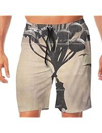 メンズ水着 ビーチショーツ ショートパンツ マッシュルーム キノコ スイムショーツ サーフトランクス 速乾 水陸両用 調節可能
