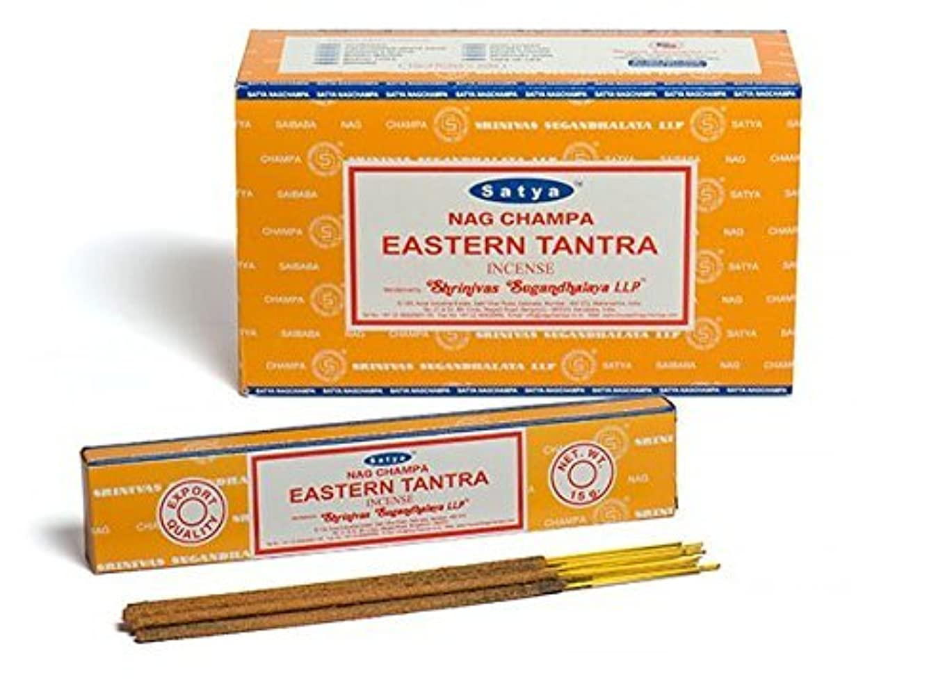 徴収道徳小数Buycrafty Satya Champa Eastern Tantra Incense Stick,180 Grams Box (15g x 12 Boxes)