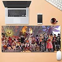 多機能肥厚ゲーミングマウスパッド80×30センチ大型コンピュータマウスマットオフィスデスクトップキーボードマウスパッド滑り止めラバーベースステッチエッジ SYFO (Color : D, Size : 5mm)