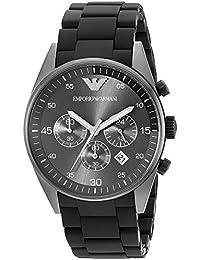 [エンポリオ アルマーニ]EMPORIO ARMANI AR5889 ラバーベルトクロノグラフ腕時計 ブラック/コンビ ラバー [並行輸入品]