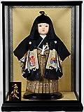【市松人形】13号市松人形:羽織袴姿:公司作 ケース入り【浮世人形】