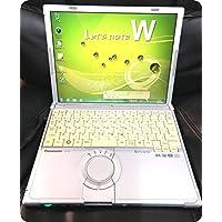 【中古パソコン】 ノートパソコン Panasonic レッツノート CF-W7 Core2Duo-1.06GHz 1.5GB 80GB DVDスーパーマルチ Windows7搭載 12.1型 1024x768 無線LAN リカバリ付 CF-W7BWRAJS MRR